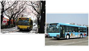 前面の塗り替え前のリラックマバス